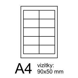 RAYFILM vizitky 9x5 FineArt foto IVORY 100ks/10 listov 200g