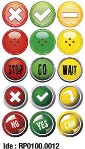 etikety RAYFILM STICKERS - nálepky semafor 75ks/5 listov *RP01000012J
