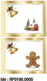 etikety RAYFILM STICKERS - nálepky darčekové vianočné (motív A) 10ks/5 listov *RP01000005J