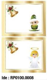 etikety RAYFILM STICKERS - nálepky darčekové vianočné (motív D) 10ks/5 listov *RP01000008J