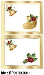etikety RAYFILM STICKERS - nálepky darčekové vianočné (motív G) 10ks/5 listov *RP01000011J