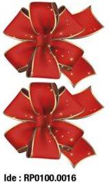 etikety RAYFILM STICKERS - nálepky vianočná mašľa (motív B) 10ks/5 listov *RP01000016J