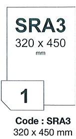 etikety RAYFILM 320x450 pololesklé metalické strieborné laser SRA3 R0161SRA3A (100 list./A3)