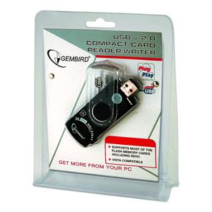 USB čítačka kariet, kompaktná, GEMBIRD