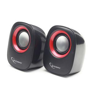 Stereo reproduktory, čierno-červené, GEMBIRD