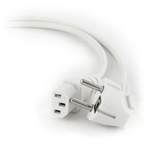 kábel napájací sieťový 220V, C13, 0,75mm2, 1,8m, biely, CABLEXPERT