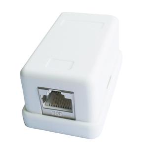 Zásuvka CABLEXPERT FTP 1xRJ45 Cat 6 na omietku, biela