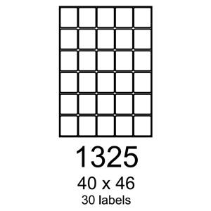 etikety RAYFILM 40x46 univerzálne biele R01001325A (100 list./A4)