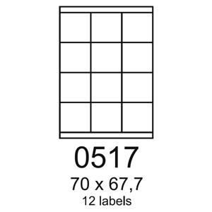 etikety RAYFILM 70x67,7 univerz�lne �erven� R01220517A (100 list./A4)