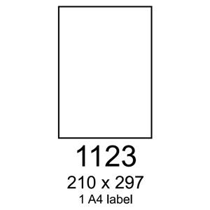 etikety RAYFILM 210x297 vysokoleskl� biele laser R01191123F (1.000 list./A4)