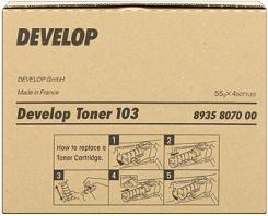 toner DEVELOP 103 black D 1300/1320/1320F (4ks)