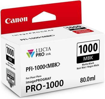 kazeta CANON PFI-1000MBK Matte Black iPF PRO-1000