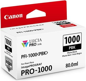 kazeta CANON PFI-1000PBK Photo Black iPF PRO-1000