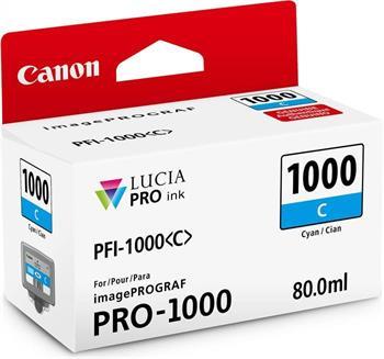 kazeta CANON PFI-1000C Cyan iPF PRO-1000