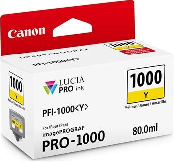 kazeta CANON PFI-1000Y Yellow iPF PRO-1000