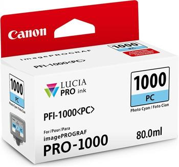 kazeta CANON PFI-1000PC Photo Cyan iPF PRO-1000