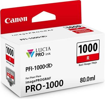 kazeta CANON PFI-1000R Red iPF PRO-1000