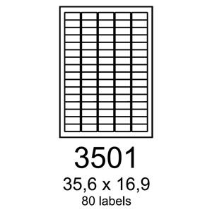 etikety RAYFILM 35,6x16,9 univerzálne biele R01003501A (100 list./A4)