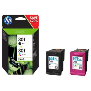 KAZETA HP N9J72AE 2-pack No.301 čierna, farebná