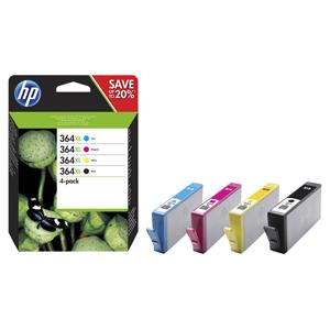 KAZETA HP N9J74AE 4-pack No.364XL čierna, azúrová, purpurová, žltá