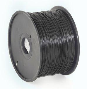 ABS plastic filament pre 3D tlač, priemer 1,75mm, farba čierna, Gembird