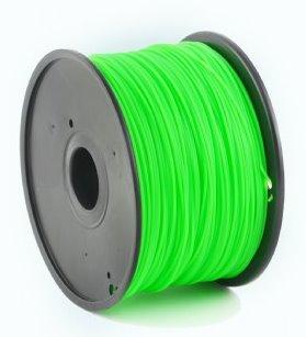 ABS plastic filament pre 3D tlač, priemer 1,75mm, farba zelená, Gembird