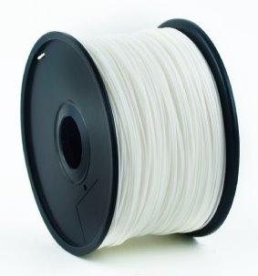 ABS plastic filament pre 3D tlač, priemer 1,75mm, farba biela, Gembird