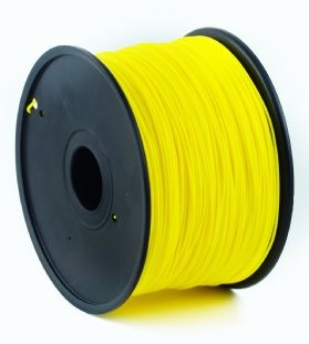 ABS plastic filament pre 3D tlač, priemer 1,75mm, farba žltá, Gembird
