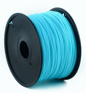 HIPS plastic filament pre 3D tlač, priemer 1,75mm, farba modrá (sky blue), Gembird
