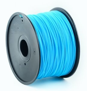 HIPS plastic filament pre 3D tlač, priemer 1,75mm, farba modrá (cyan), Gembird