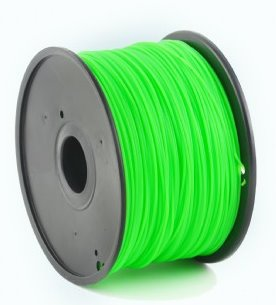 HIPS plastic filament pre 3D tlač, priemer 1,75mm, farba zelená, Gembird