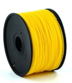 HIPS plastic filament pre 3D tlač, priemer 1,75mm, farba zlatožltá, Gembird