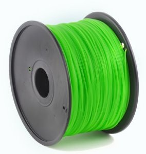 HIPS plastic filament pre 3D tlač, priemer 1,75mm, farba zelená (lime), Gembird