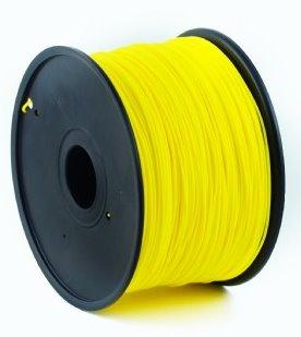 PLA plastic filament pre 3D tlač, priemer 1,75mm, farba žltá, Gembird