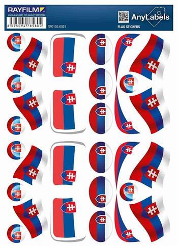 etikety RAYFILM STICKERS - nálepky vlajky (SK) 30ks/1 list *RP01050021SK