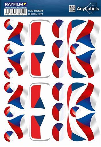 etikety RAYFILM STICKERS - nálepky vlajky (CZ) 30ks/1 list *RP01050021CZ