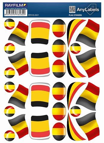 etikety RAYFILM STICKERS - nálepky vlajky (BG) 30ks/1 list *RP01050021BG