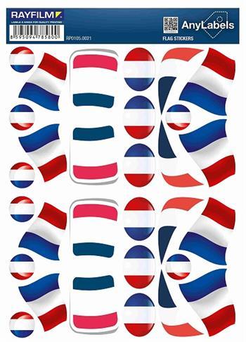 etikety RAYFILM STICKERS - nálepky vlajky (FR) 30ks/1 list *RP01050021FR