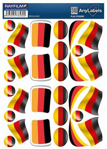 etikety RAYFILM STICKERS - nálepky vlajky (DE) 30ks/1 list *RP01050021DE