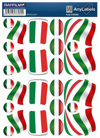 etikety RAYFILM STICKERS - nálepky vlajky (HU) 30ks/1 list *RP01050021HU
