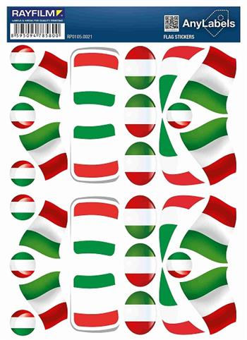 etikety RAYFILM STICKERS - nálepky vlajky (IT) 30ks/1 list *RP01050021IT