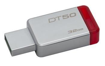 USB kľúč Kingston 32GB USB 3.0 DataTraveler 50 (Kovovy/Červený)