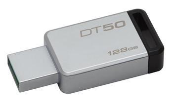 USB kľúč Kingston 128GB USB 3.0 DataTraveler 50 (Kovový/Čierny)
