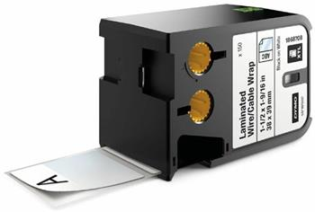 páska DYMO XTL 1868708 Black On White Pre-Sized Laminated Wrap (38x29) 150ks