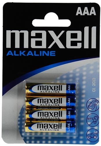 Batérie Maxell Alkaline LR03 (AAA) 4ks Blister