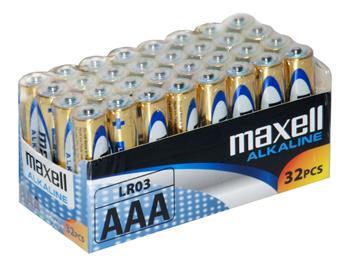 Batérie Maxell Alkaline AAA 32ks balenie