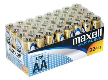 Batérie Maxell Alkaline LR6 (AA) 32ks balenie