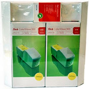 kazeta + hlava OCE ColorWave 300 yellow (2x 350ml) Combi-Pack XL