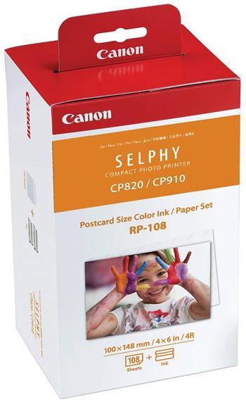 náplň + papier CANON RP-108 SELPHY CP 820/910/1000/1200