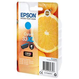 kazeta EPSON XP-530,XP-630,XP-635,XP-830 33XL Claria Cyan (650str)